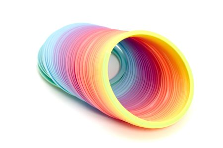 fad: series object on white - toy spiral Stock Photo