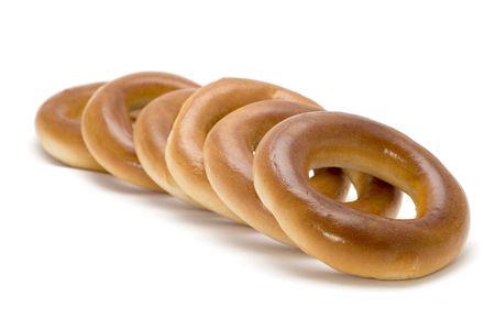 baranka: object on white - food - bagel Stock Photo