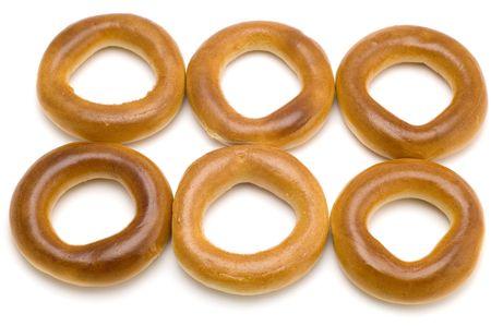 boublik: object on white - food - bagel Stock Photo