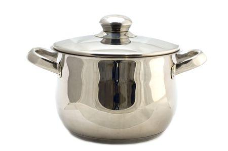 object on white - kitchen utensil - Metal pan Stock Photo - 2366853