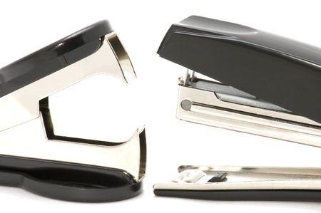 office tool: object on white - office tool Stapler and anti-stapler