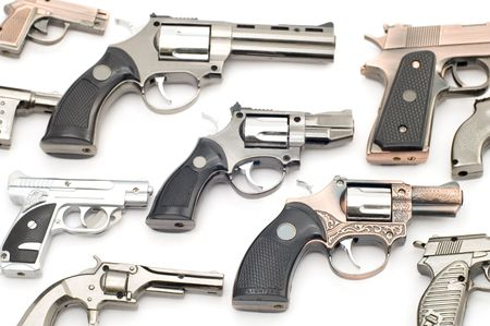 object on white tool - pistol lighter Stock Photo - 2527288