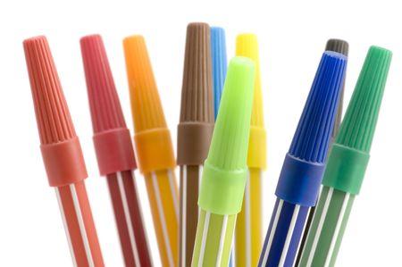 writing utensil: series object on white - soft-tip pen Stock Photo