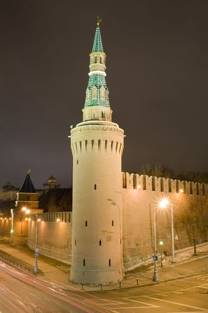 Russia. Moscow, red square, wall and tower  photo