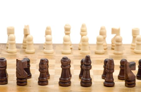object on white: game - chess macro Stock Photo - 2615425