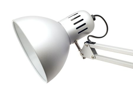object on white table lamp