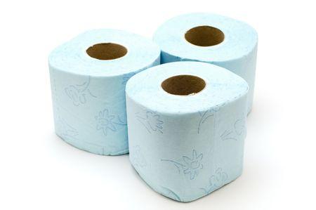 defecate: oggetto su bianco - carta igienica colorata