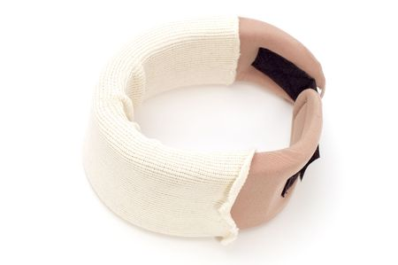 immobilize: object on white - medical tool orthopedic collar