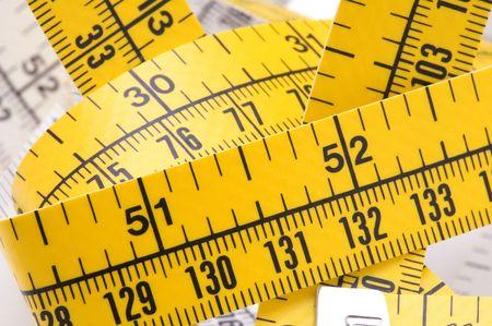 cintas metricas: objeto en blanco herramienta cinta-line de cerca