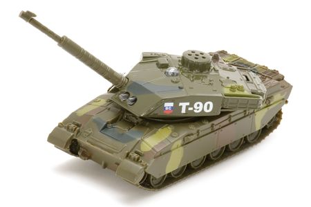 object on white - toy military tank Stock Photo