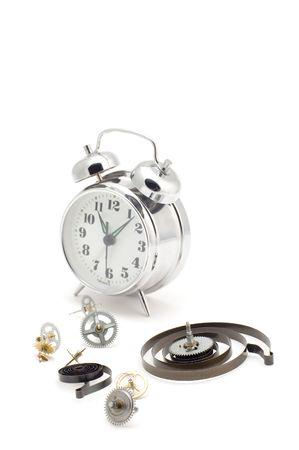 object on white - tool macro clockwork photo