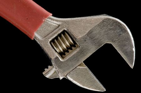 object on black - tool monkey wrench Stock Photo - 3159002