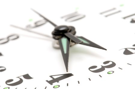 object on white - clock face