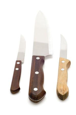 object on white - tool - kitchen knife photo