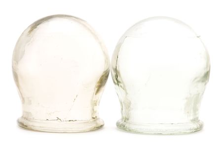 needless: object on white medical tool cupping glass