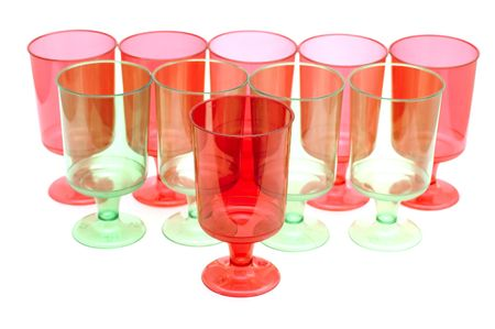bocal: object on white - kitchen utensil - plastic cups