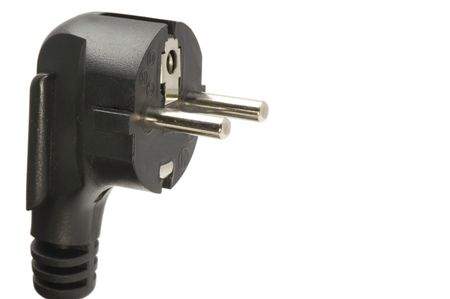 object on white tool Power Cord Plug photo