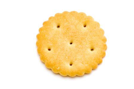 object on white - food - cracker macro
