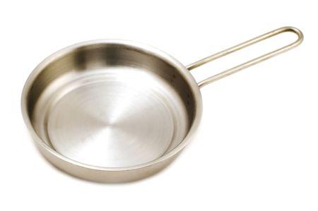 object on white - kitchen utensil frying pan Stock Photo - 3393622
