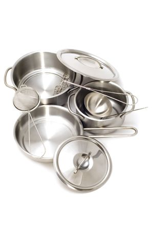 bolter: object on white - Metal kitchen utensil Stock Photo