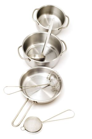 object on white - Metal kitchen utensil Stock Photo - 3393629