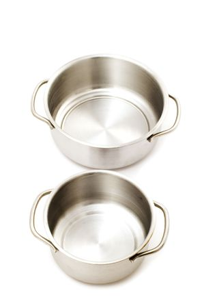 object on white - kitchen utensil pan Stock Photo - 3393628