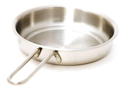 object on white - kitchen utensil frying pan Stock Photo - 3404752
