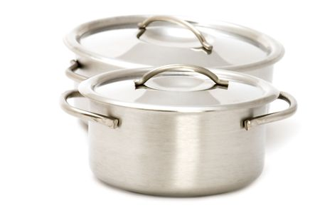 object on white - kitchen utensil pan Stock Photo - 3404754
