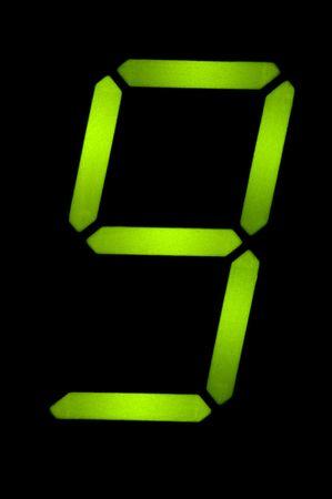 number nine: objeto en negro - de cristal n�mero nueve