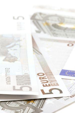 object on white - European bank paper photo