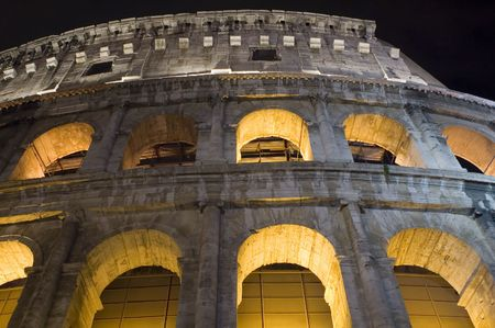 Italy Older amphitheater - Coliseum in Rome Stock Photo - 3650979