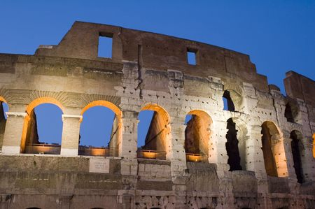 Italy Older amphitheater - Coliseum in Rome photo