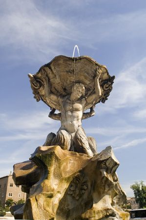Italy Older Fountain in Rome city photo