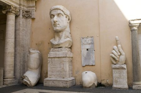 constantine: Italy Older Capitol museum emperor Constantine, Capitol, Rome  Stock Photo