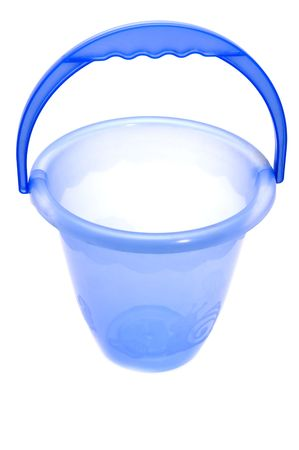 object on white - blue Plastic bucket Stock Photo - 4021134