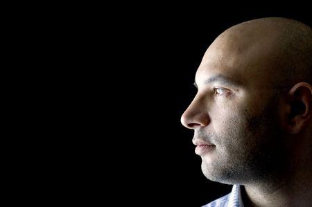 people on black - Man Portrait on Black Stock Photo - 4212564