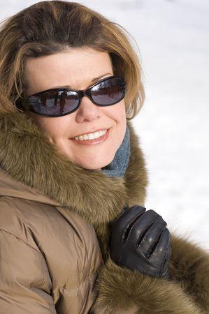 sole occhiali: ritratto - Donna su occhiali da sole vicino