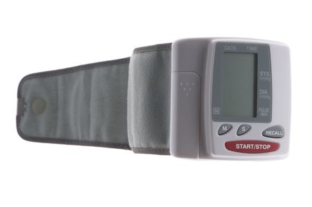 blood pressure monitor: object on white - tool blood pressure monitor macro