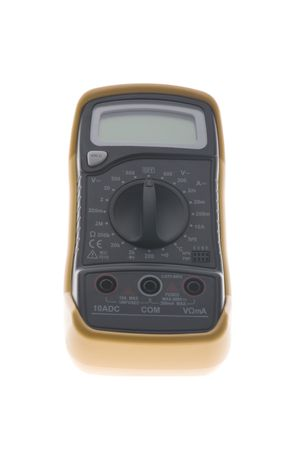 object on white - tool Digital multimeter closeup Stock Photo - 4630805