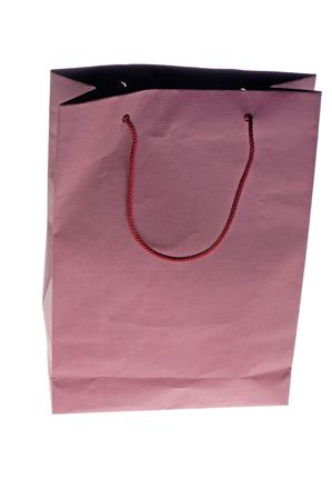 white paper bag: objeto en blanco - bolsa de papel cerca