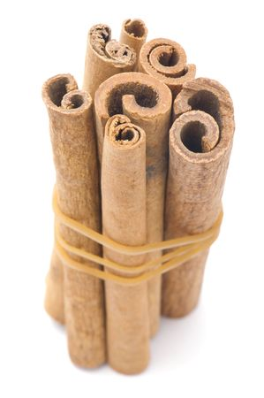 object on white - food cinnamon close up Stock Photo