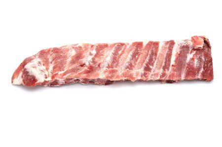 pork rib: oggetto su bianco - alimentare greggio costola di maiale
