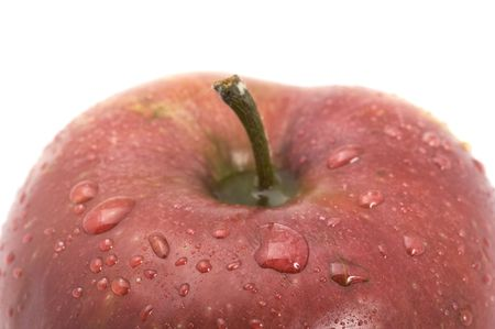 object on white - food Red apple Stock Photo - 4954911