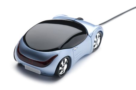object on white - Computer mouse car Stock Photo - 5125055