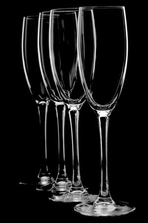 bocal: object on black - Empty bocal for champagne  Stock Photo
