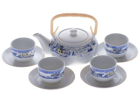 serviette: object op wit - thee serviette dichten