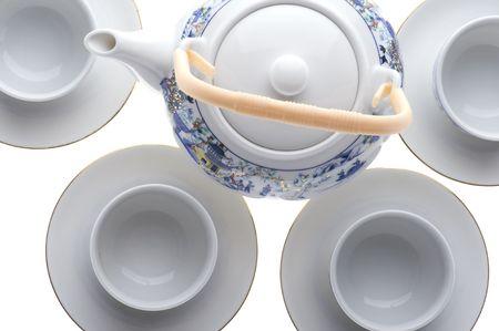 serviette: object op wit - thee servetring close up