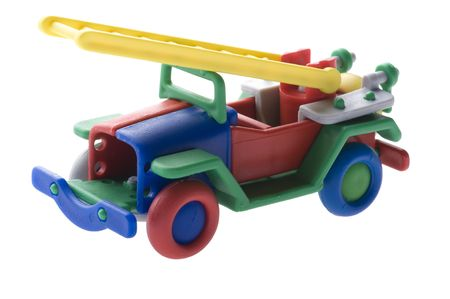object on white Toy Fire engine photo