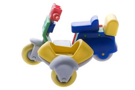 motor de carro: objeto en blanco scooter Toy Motor con un carro
