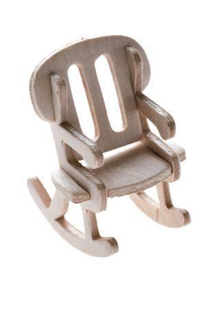 object on white Miniature Rocking Chair macro Stock Photo - 6100951